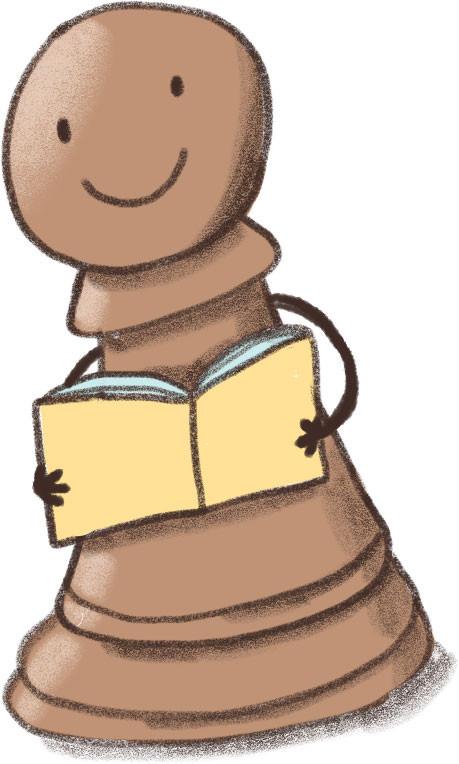 Pion met boek